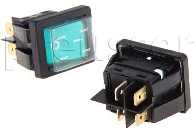 2 Green Rocker Switches For Carpet Cleaning Extractors Edic Part B02211-1