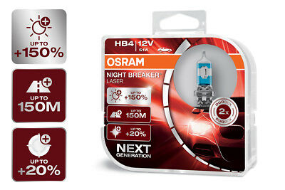 Mit Extra Licht Mini (OSRAM Night Breaker® LASER NEXT GENERATION HB4 Sockel +150% mehr Sicht DuoBox)