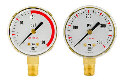 2 X 30 Psi 400 Psi Repair Replacement Us Gauges For Acetylene