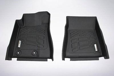2 Piece Front Floor Mats - 2-Piece Front Row Black Floor Mats for 2015-2019 Ford Mustang/Mustang GT350/350R