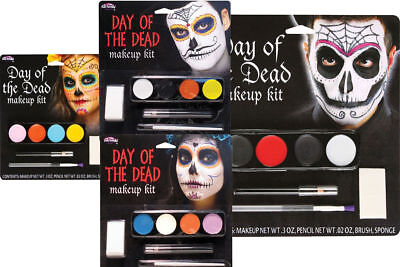 Day Of The Dead Mens Ladies Halloween Face Paints Fancy Dress