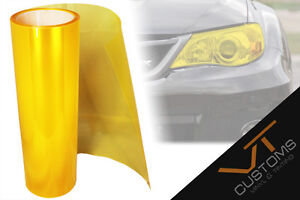 30 x 60cm Yellow Tinting Film Fog Tail Lights Headlights Tint Car Van Wrap