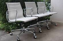 Herman Miller Style Charles Eames Aluminium Group Chairs White Hurlstone Park Canterbury Area Preview