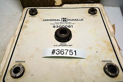 Universal Houdaille Acura Mill 9300081 Collet Set 34 Inch Inv.36751