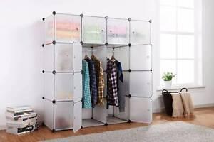 Ovela 16 Cube Modular Storage Organiser (White) Auburn Auburn Area Preview