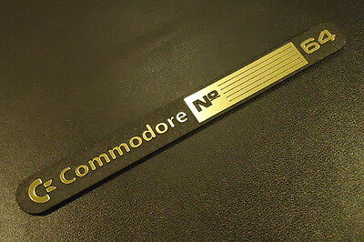 Commodore C64 Gold Label / Aufkleber / Sticker / Badge / Logo 11 x 1,1cm [241c]