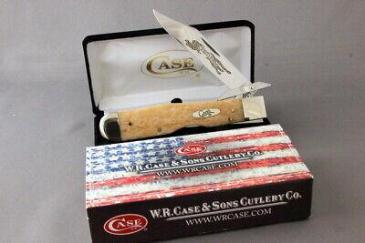 CASE EX111½L Cheetah Swing Guard Knife, Giraffe Bone Handles, 2007, Box & Sleeve