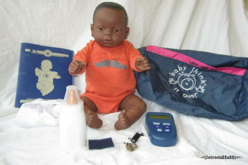 RealCare Baby Think It Over Doll G6 Black African Boy Male + Programmer + Extras