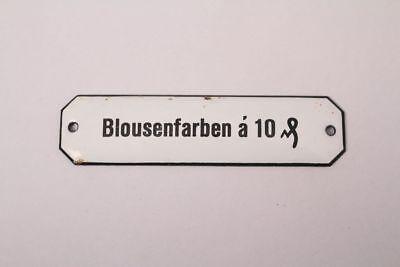 Blousenfarben a 10 Enamel Sign Colonial Pharmacy Grocer Medicine Color