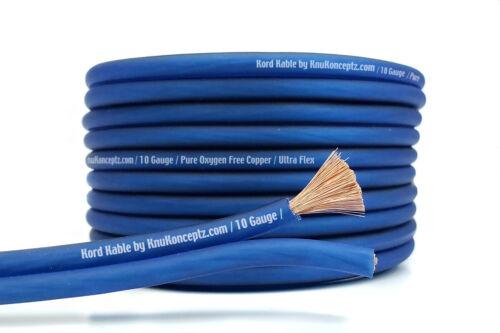 KnuKonceptz Kord Speaker Wire Ultra Flex Blue OFC 10 Gauge Cable 25