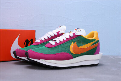 Sacai x Nike LVD Waffle Daybreak Mens Running Shoes Sneakers Trainers (Pink/Grn)
