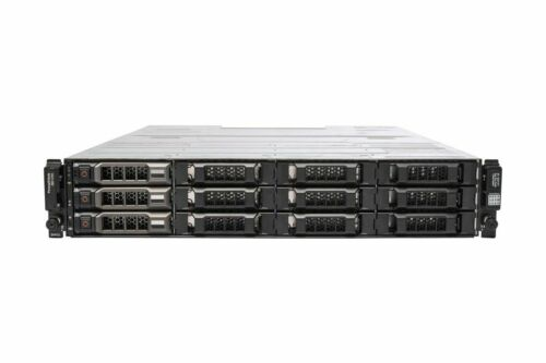 """Dell PowerVault MD1200 3x 4TB 3.5"""" HDD Dual 6G SAS Controllers Dual 600W PSU"""