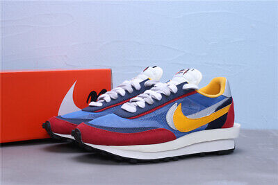 Sacai x Nike LVD Waffle Daybreak Mens Running Shoes Sneakers Trainers (Blue/Red)