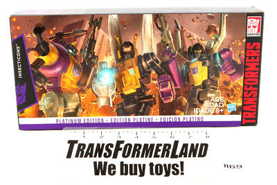 Insecticons Kmart Sealed MISB MOSC Gift Sets Platinum Edition Transformers