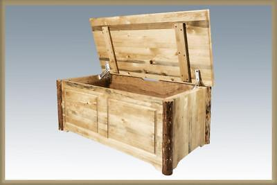 Solid Wood Toy Chest Amish Made Log Cabin Blanket Hope Sitti