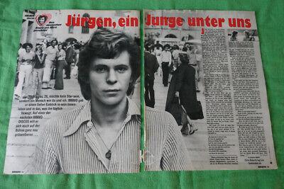Jürgen Marcus...Bravo-Poster/Story...2 Seiten vom 1975..4.Sept. (Marcus Seite)