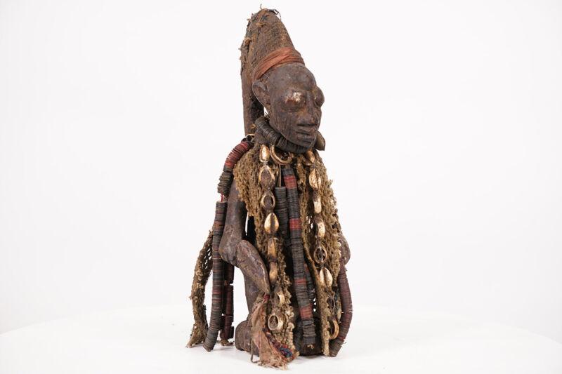 "Decorated Yoruba Eshu Statue 13.5"" - Nigeria - African Art"