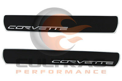 2005-2013 C6 Corvette Genuine GM Door Sill Plates Corvette Script Logo 17802221 for sale  Reading