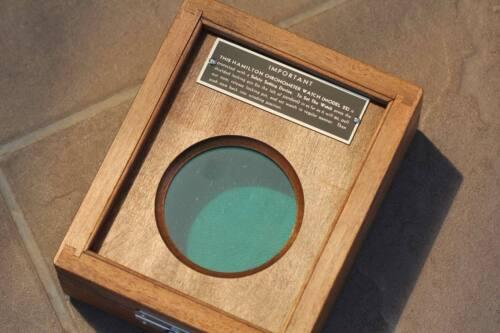 chronometer Box deck pocket watch Hamilton model 22 ship