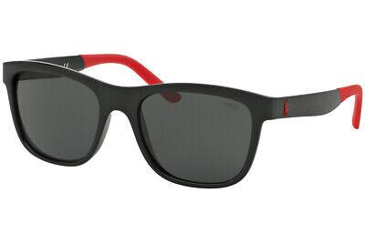 Ralph Lauren Polo PH4120 500187 SHINY BLACK GRAY 55 mm Men's (Polo Ralph Lauren Sunglasses For Men)