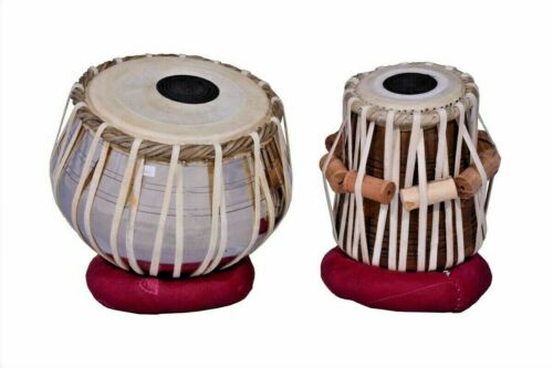 Brass Tabla Set Carving On It High Quality Wood Dayan INDIAN MUSICAL INSTRUMENT
