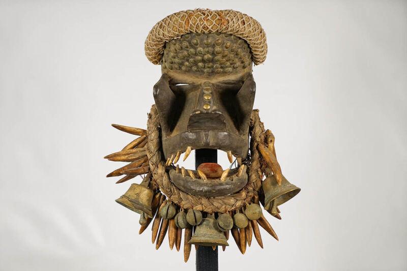 "Fierce Dan Kran or Guere War Mask 14"" - Ivory Coast - African Art"
