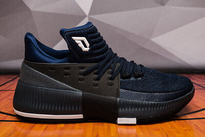 Adidas Dame 3 By Any Means Men's (Size 10.5) BB8271 Lillard Black Blue