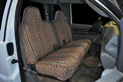 1995-2007 Ford F-150 F-250 F-350 Bench CUSTOM FIT GREY SADDLEBLANKET SEAT COVERS Ford F150 Seat