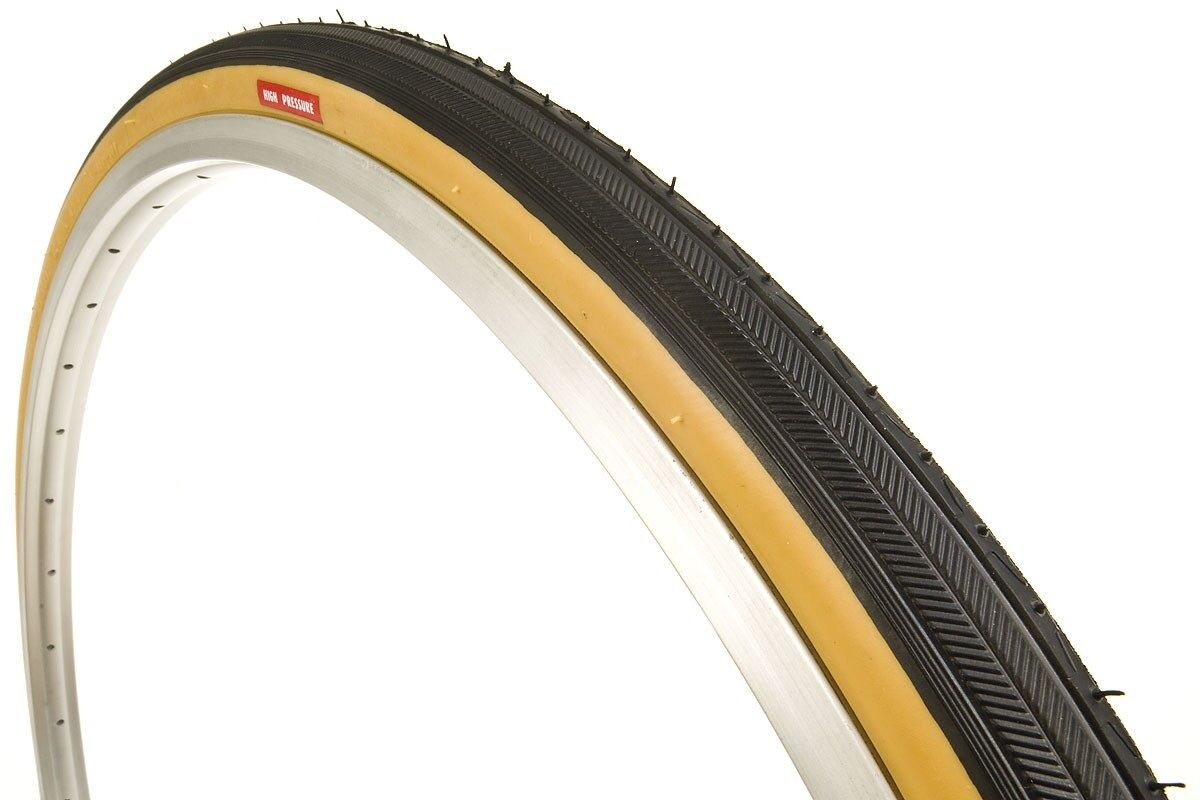 "Two x Kenda K35 BLACK Wall 27 x 1-1//4/"" Road Bicycle Tires Wire Bead Fixie 2"