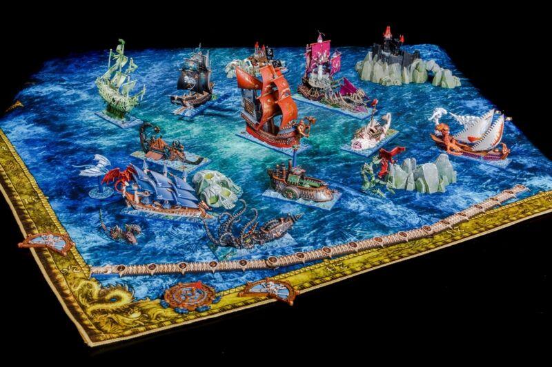 Collectible Dreadfleet Warhammer Fantasy Battle Board Game, Pro-Painted Hi Q
