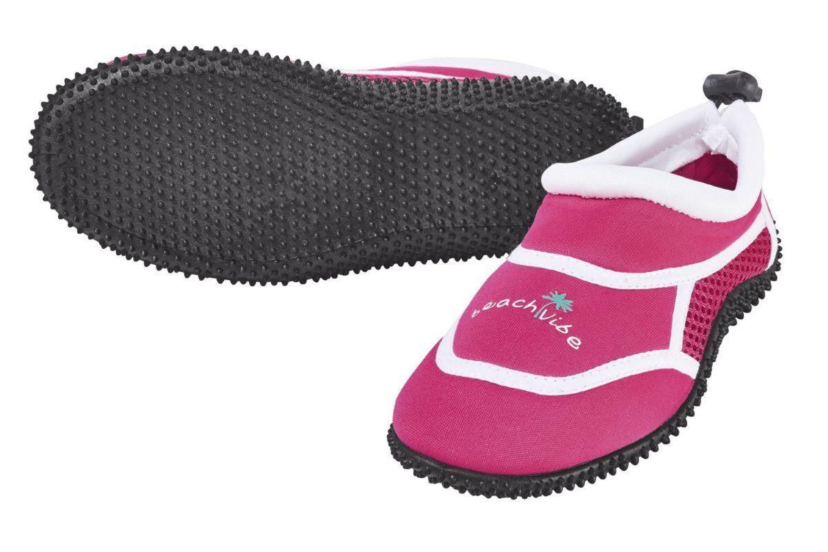 pepperts Aquaschuhe Kinder Mädchen Strandschuhe Beach Vibe Pink - Gr. 32