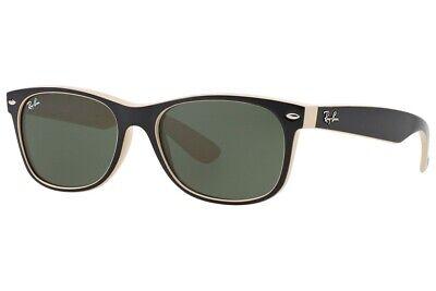 Ray-Ban RB 2132 875 New Wayfarer Sunglasses Black / Beige G-15 Lens 52mm (Ray Ban New Small Wayfarer 52mm Sunglasses)