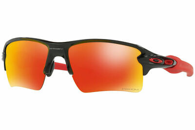 Oakley Sunglasses Flak Jacket 2.0 XL Polish Black w Prizm Ruby Lens OO9188 80