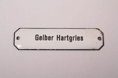 Yellow Hartgries Enamel Sign Colonial Pharmacy Grocer Ingredient Medicine