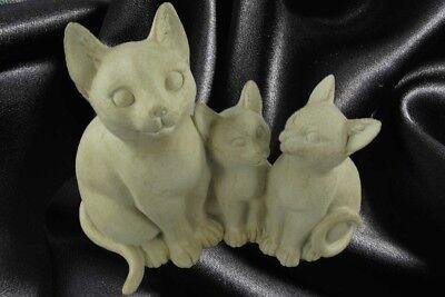 Figur Katze creme Kätzchen Polystein Geschenk Dekoration Standfigur Skulpturen