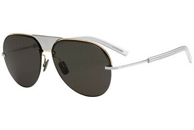 RARE NEW Christian DIOR Mens SCALE 1 Titanium Gold Aviator Sunglasses M1B NR