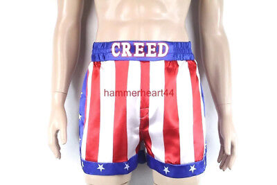 CREED Rocky Mens Apollo Johnson Movie Boxing American Flag Shorts Trunks boxers - Apollo Creed Shorts