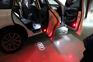 2 LED Logo Light Shadow Projector Car Door Courtesy for Audi A4A6A8Q7