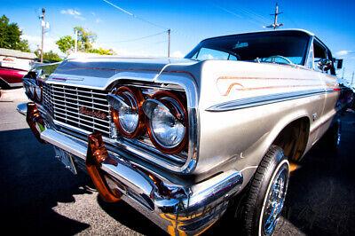 12x18 in. Hot Rod Poster 1964 Chevy Impala Lowrider, Vintage Garage Art Man (Vintage Hot Rod Art)