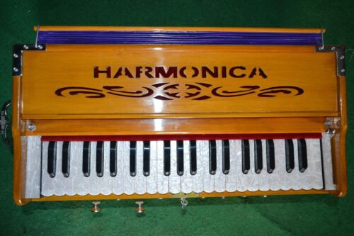 Harmonium 9 Stopper Chudidaar Bellow 42 Key Two Reed(Bass-Male) 3 1/2 Octave