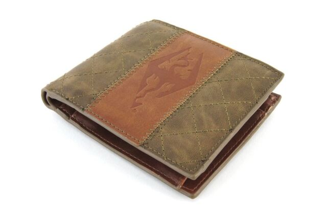 THE ELDER SCROLLS Skyrim Armor Faux Leather Wallet, Brown