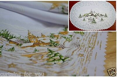 CHRISTMAS TABLECLOTH/TABLE RUNNER SQUARE ROUND OVAL AMAZING DECORATIONS FOR YOU - Table Runners For Round Table