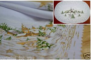Christmas tablecloth table runner square round oval - Nappe de table ovale ...