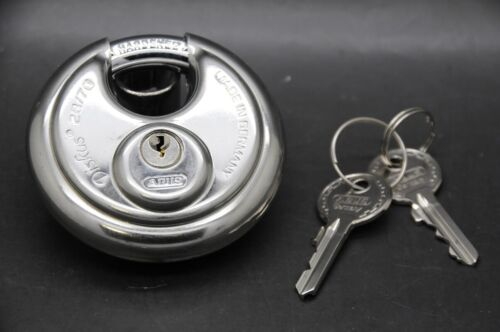 """ABUS 28/70 KD Diskus Padlock, Keyed Different 2-3/4""""W Made in Germany"""