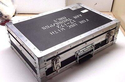 Vintage Tms Military Surplus Metal Roadiebrief Case W Keys- 21x14x6