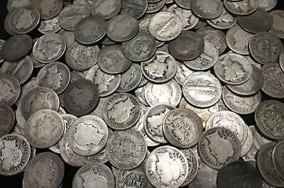 ✯ Old U.S. SILVER Estate Coin Lots ✯ Mercury Dime Barber Dime ✯ Antique Vintage✯