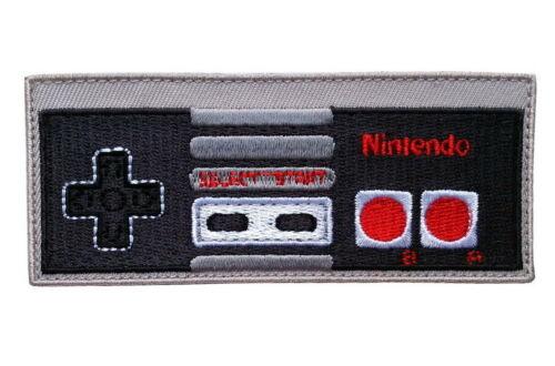 Controller Nintendo Mario Gaming Collectible NES Jacket Iron on Patch