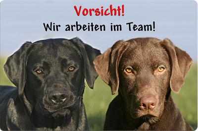LABRADOR - A4 Metall Warnschild Hundeschild SCHILD Türschild - LAB 36 T16 S BRA