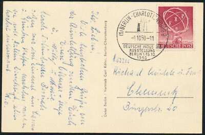 BERLIN 1950, MiNr. 71, schöne Ersttagskarte, FDC, Mi. 140,-