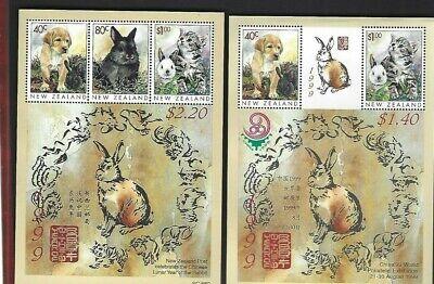 New Zealand sc#1575a-b (1999) Souvenir Sheets MNH